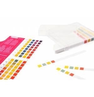 Tires indicadores de pH amb escala de color
