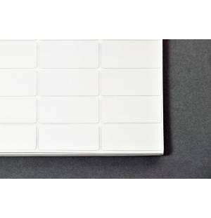 Etiqueta adhesiva con barrera de aluminio - 19,1 x 38,1 mm