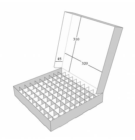 Box with grid