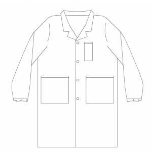 White Tergal Lab Coat