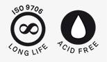 LONG LIFE ISO 9706 1994 ACID FREE LIBRE DE ÁCIDOS